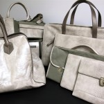 Custom handbags and accessories made in Townsend's Komodo embossed leather.