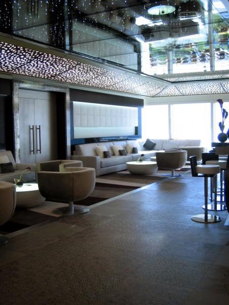 Embossed Leather Floor Tiles Junsui Restaurant Burj Al Arab