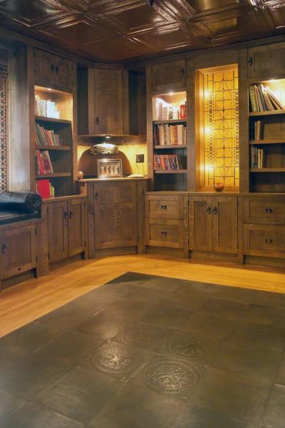 Custom Leather Floor Tiles Townsend Leather
