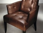 Brushed Metallic Cowhide Old Penny BM-8357 on chair