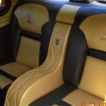 Classic leather in a custom automotive interior.