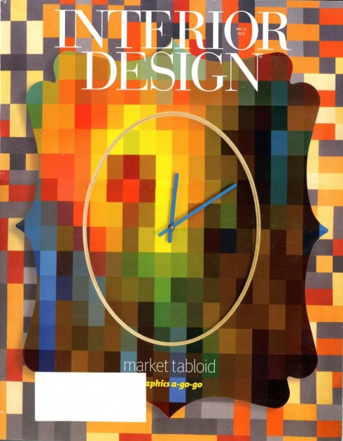 Abstract art in interior design magazine for Id interior design magazine