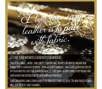 For the LOVE of Leather, Reason 17 – Easy to Pair with Fabric