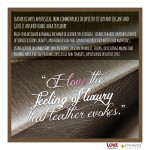 For The LOVE of Leather_3_Feeling of Luxury