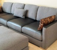 Sofa with Beautiful Fabric and Leather Pairing