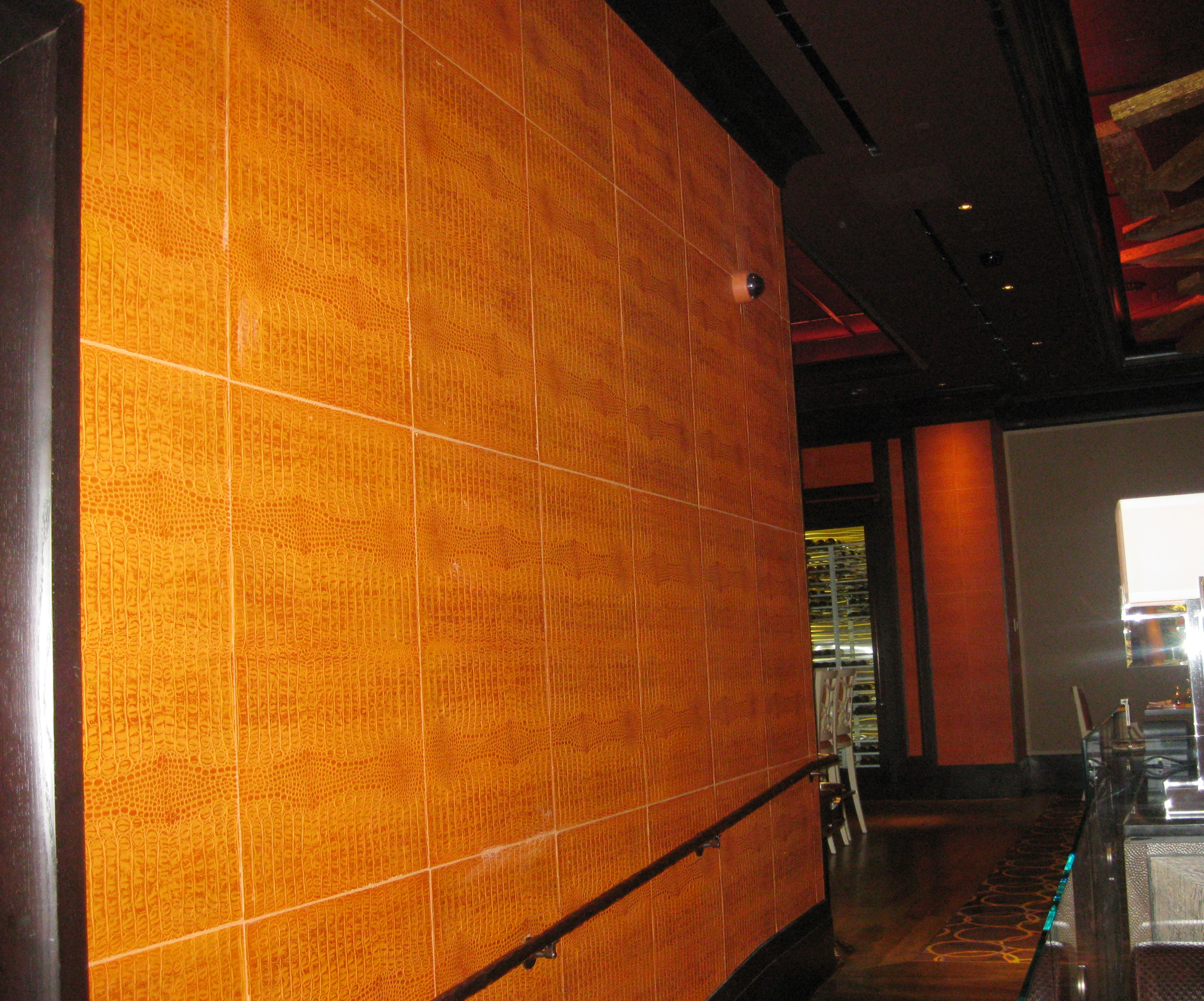 Resturant with Townsend Leather Embossed American Gator pattern ...