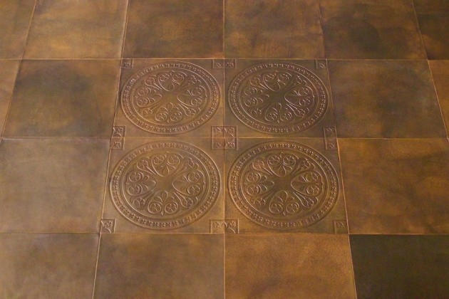 Townsend Leather S Medieval Brown Leather Floor Tiles Featured In A