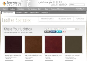 Townsend Leather Chocolate lightbox