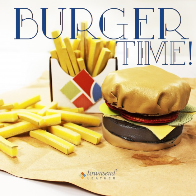 Townsend Leather Sample Magicans Leather Burger and Fries_Burger Time