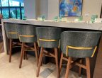 Art Ovation Hotel, Autograph Sarasota FL – Jewel of the Sea Shimmering Suede Deep Ocean Green Designed by Studio 11