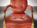 Tapestry Goatskin Orchid GT-2261 on chair