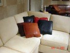 Nubuck Impressions Embossed Leather Pillows