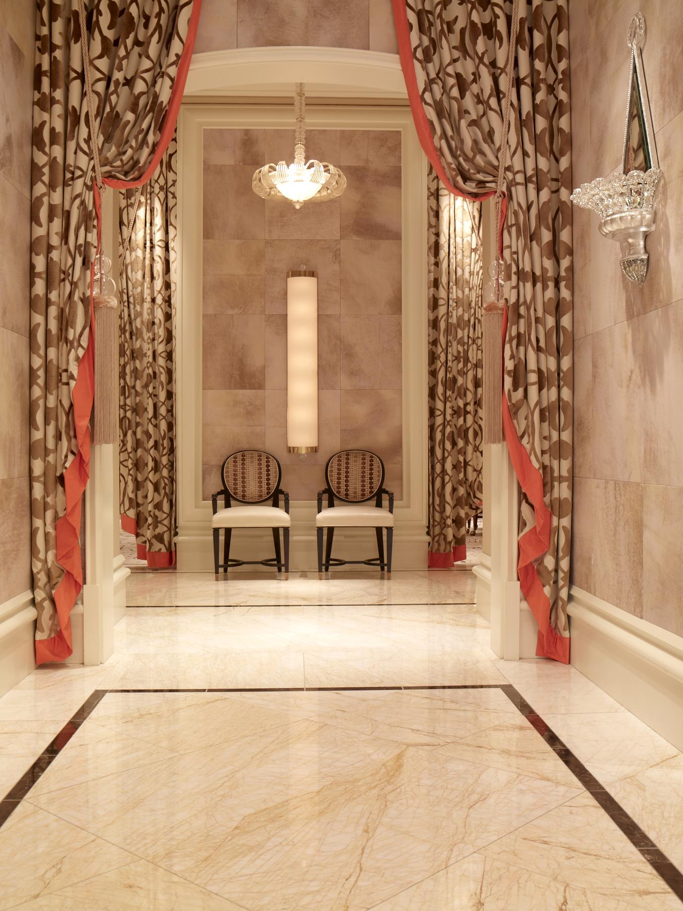 Wynn Baccarat Room Tlc Rtc Faux Parchment Tiles 2 Designer Design Development Las Vegas