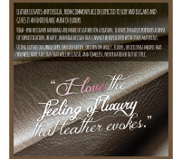 For the LOVE of Leather, Reason 3 – The Feeling of Luxury…